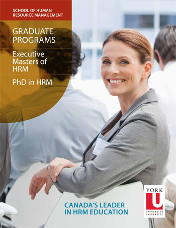 human resources management graduate brochure cover image