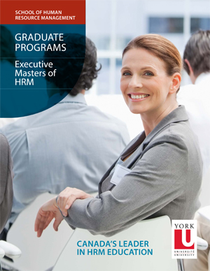 photo of the Master's Degree in Human Resource Management brochure cover