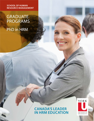 photo of the PhD in Human Resource Management brochure cover
